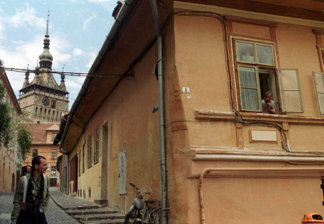A view of the Romanian town of Sighisoara, the setting for the viral gay love story.