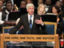 Michigan Governor Rick Snyder speaks at the funeral for Aretha Franklin.  (Scott Olson/Getty Images)