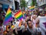 People attend the annual Tokyo Rainbow Parade in Tokyo, on May 6, 2018. (MARTIN BUREAU/AFP/Getty Images)