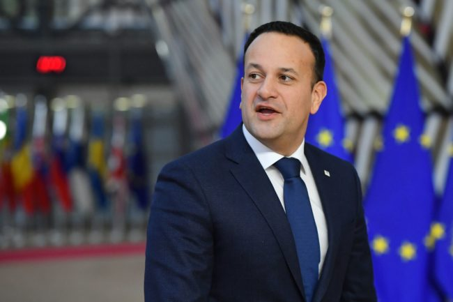 Ireland's Prime Minister Leo Varadkar arrives on December 14, 2018 in Brussels.