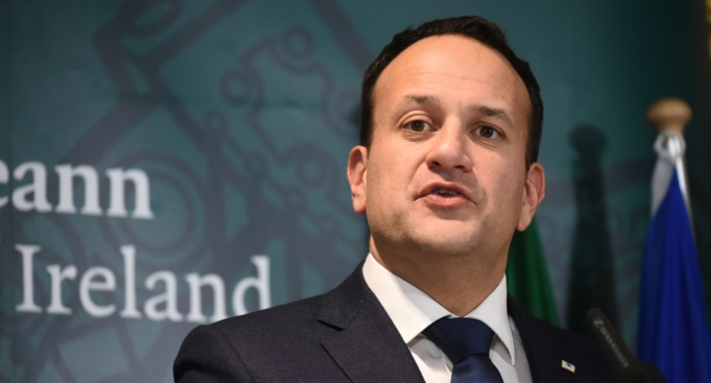 Ireland's Prime Minister Leo Varadkar holds a press conference after the European Council on December 14, 2018, in Brussels. (JOHN THYS/AFP/Getty)