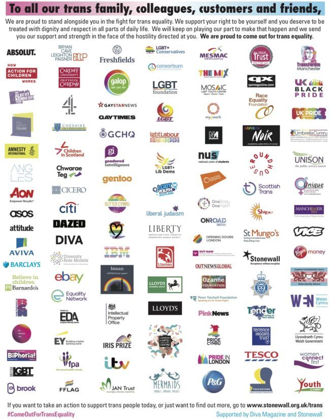 Best LGBT quotes 2018: 100 companies sign a joint letter showing solidarity with transgender people