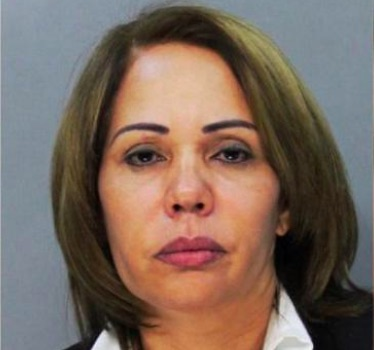 The mugshot of Fior Pichardo De Veloz when she was arrested in November 2013.