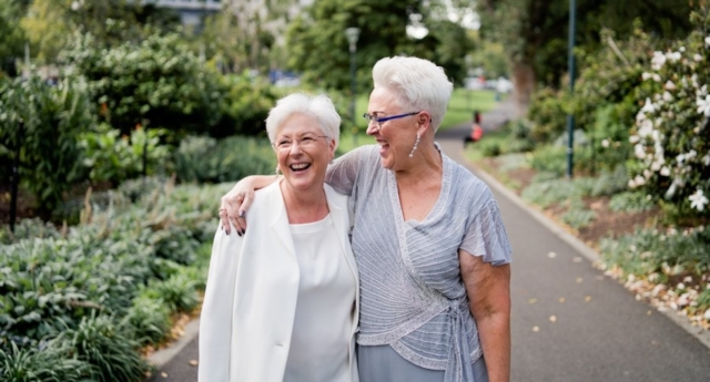 Michelle (right) and Rhonda Redfern have been together for more than 18 years. (Courtesy of Michelle and Rhonda Redfern)