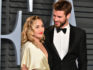 Miley Cyrus and Liam Hemsworth attend the Vanity Fair Oscar Party on March 4, 2018 in Beverly Hills, California. (Dia Dipasupil/Getty Images)