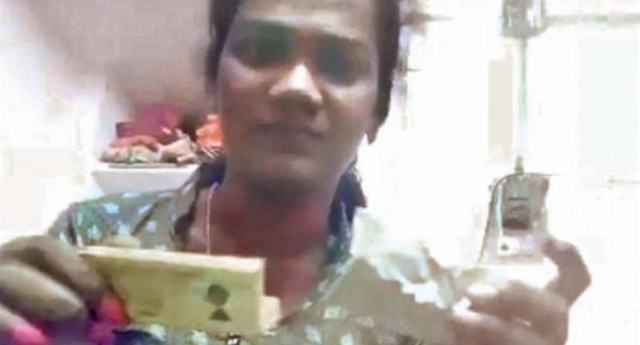 Trans police officer R Nasriya attempted suicide after being harassed by co-workers in India. (R Nasriya)