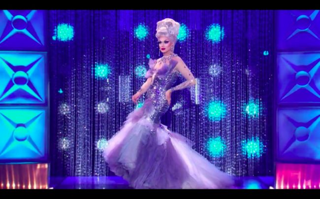 RuPaul's Drag Race All Stars star Manila Luzon impresses the judges with her runway look.