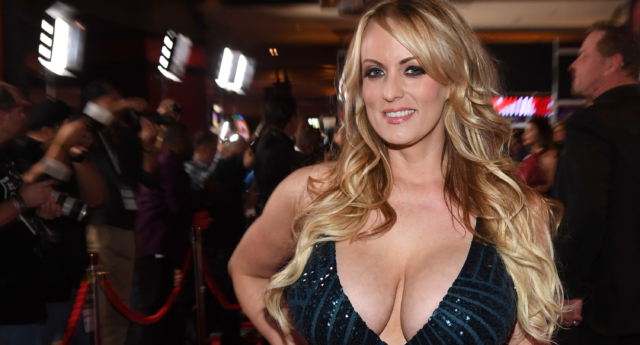 Adult film star Stormy Daniels attends the 2018 Adult Video News Awards at the Hard Rock Hotel & Casino on January 27, 2018 in Las Vegas, Nevada.  (Ethan Miller/Getty)