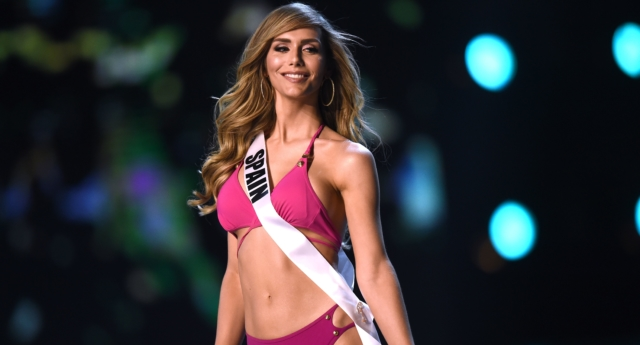 Trans model Angela Ponce made history by competing as Miss Spain in Miss Universe (LILLIAN SUWANRUMPHA/AFP/Getty)