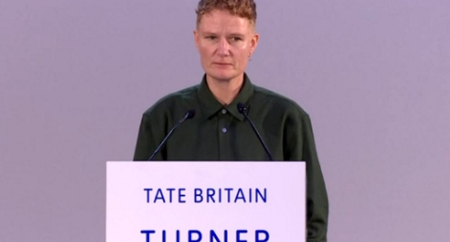 Charlotte Prodger won the prize for films including Bridgit, which deals with queer issues (BBC News)