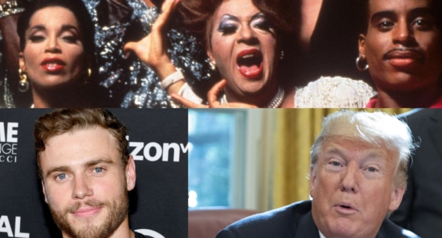 "Donald Trump has been slammed by Gus Kenworthy after writing ""Paris is burning"" in a tweet (Paris is Burning and Ron Sachs - Pool/Getty and Noam Galai/Getty)"