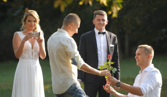 A gay couple proposed more than 100 times in Poland