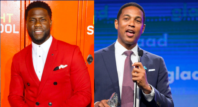 A combined picture of Kevin Hart (L) and CNN host Don Lemon (R), who invited the comedian to come on his show. (Matt Winkelmeyer/Getty; Miikka Skaffari/Getty for Ketel One Vodka)