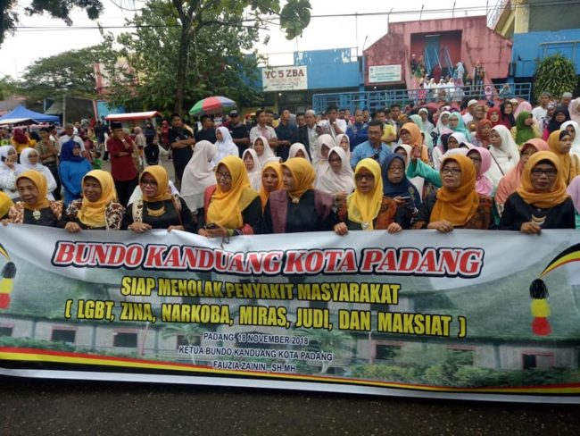 Anti-LGBT+ march in Padang, West Sumatra, Indonesia
