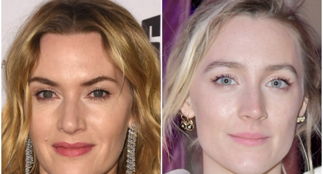 Kate Winslet (L) (C Flanigan/Getty) and Saoirse Ronan (R) (Michael Loccisano/Getty).