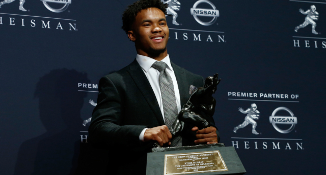 Kyler Murray apologised just hours after lifting the Heisman Trophy (Mike Stobe/Getty)
