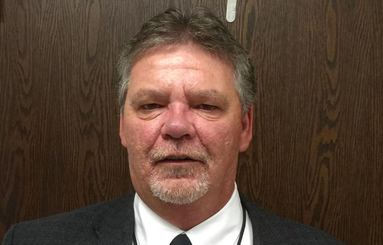 Lee Livengood, an assistant principal at Liberty High School, who was suspended for alleged harassment of trans student Michael Critchfield. (harcoboe.net)