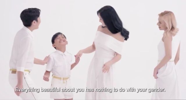 """""""Everything beautiful about you has nothing to do with your gender."""" (Pantene Philippines/Facebook)"""