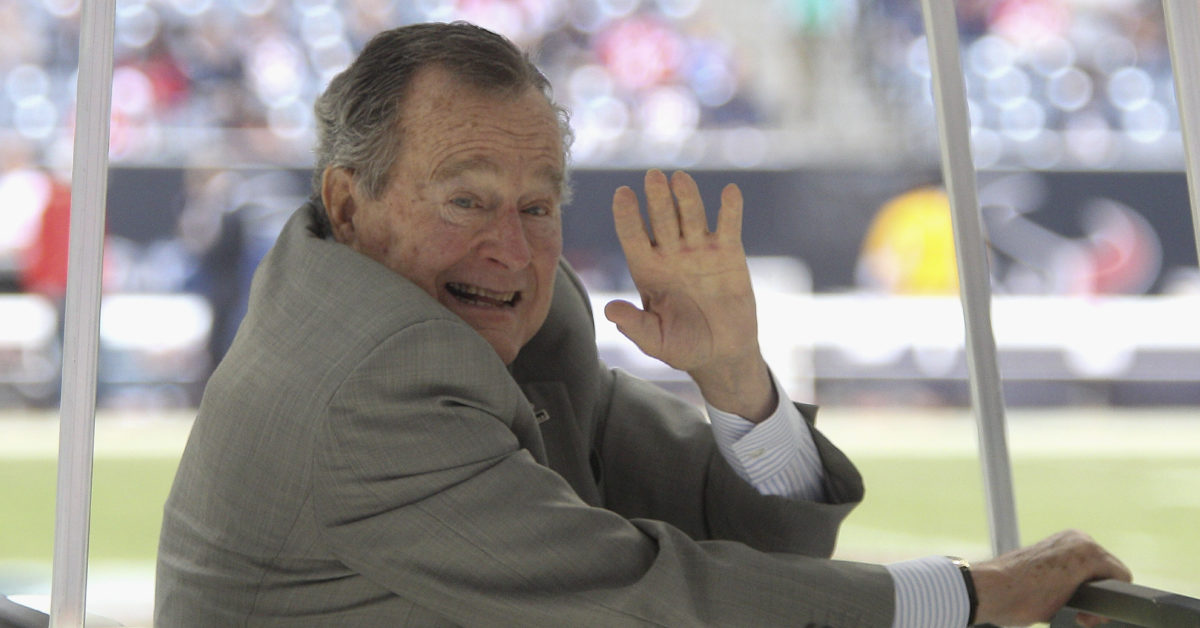 Former President George H.W. Bush died on November 2018, aged 94.  (Bob Levey/Getty Images)