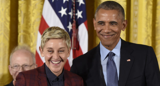 Ellen DeGeneres was named as one of the top 10 most admired women in the US. (Saul Loeb/AFP/Getty)