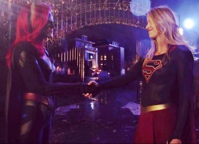 Melissa Benoist as Supergirl and Ruby Rose as Batwoman in The CW's Elseworlds crossover episode