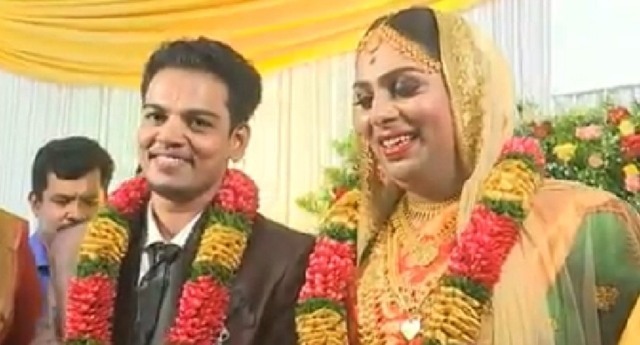 Trans couple have wedding in Kerala India