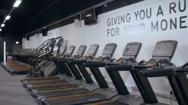 Treadmills at PureGym, which threw a trans woman out of a women's changing room