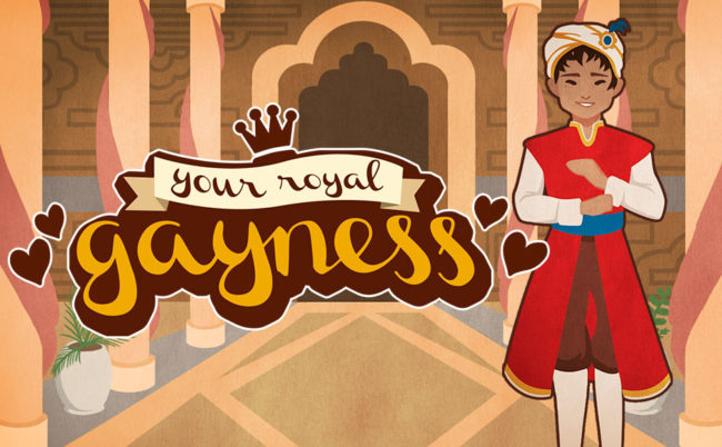 Prince Amir in Your Royal Gayness video game