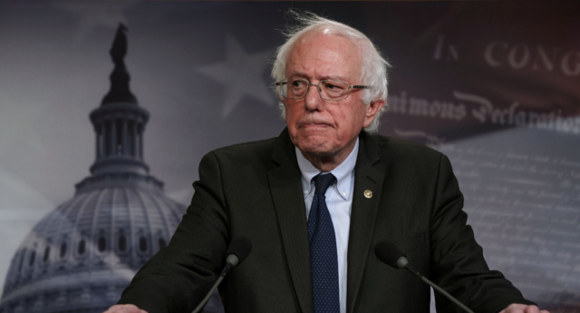 US Senator Bernie Sanders speaks during a news conference on prescription drugs January 10, 2019 at the Capitol in Washington, DC. (Alex Wong/Getty)