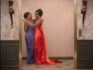 Black Panther stars Lupita Nyong'o and Danai Gurira kiss at InStyle's Golden Globes after-party