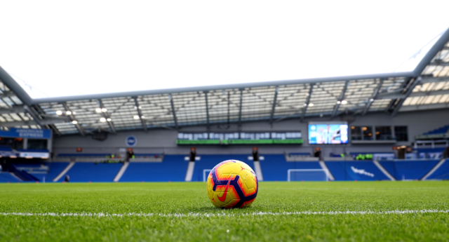 Brighton's Amex stadium ahead of the Premier League match between Brighton & Hove Albion and Chelsea FC  on December 16, 2018. (Dan Istitene/Getty)