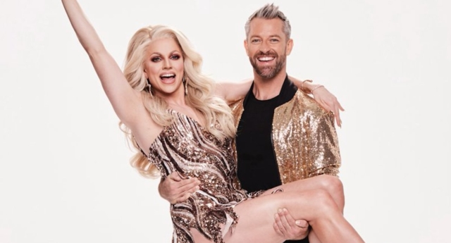Courtney Act with her Dancing with the Stars partner. (courtneyact/Twitter)