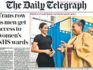 The Daily Telegraph has come under fire for publishing an anti-trans headline on its front page on Friday. (Telegraph/Twitter)