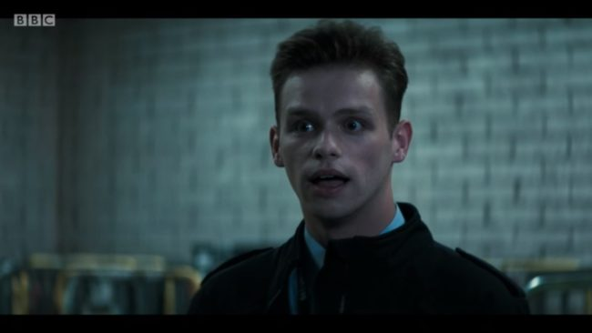 Doctor Who character Richard, played by Connor Calland