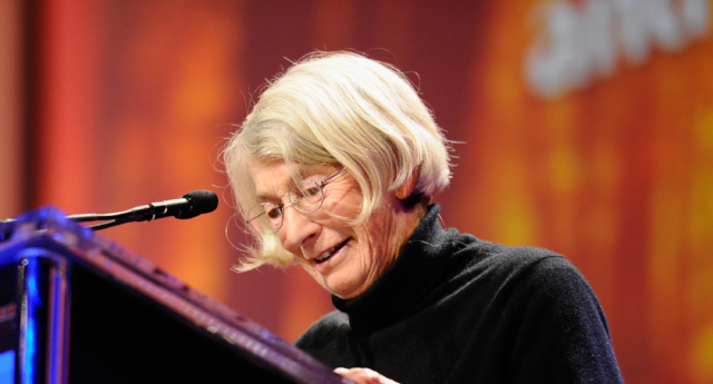 Poet Mary Oliver speaks during the annual Women's Conference 2010 (Kevork Djansezian/Getty Images)