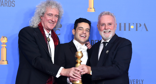 Queen biopic Bohemian Rhapsody scored two Golden Globes, including for Rami Malek's performance as Freddy Mercury. (Kevin Winter/Getty)