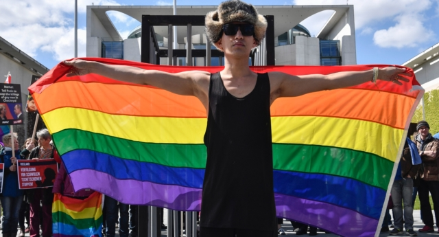 LGBT activists have filed a criminal complaint to Russia's Investigative Committee. (John MacDougall/AFP/Getty)