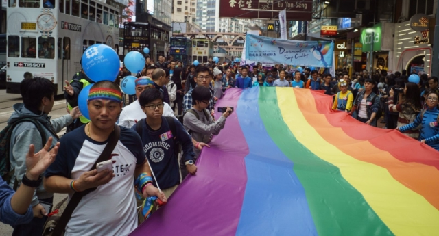 A Pride parade in Hong Kong. (AARON TAM/AFP/Getty Images)