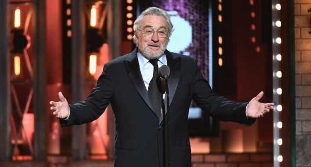 Robert De Niro speaks onstage during the 72nd Annual Tony Awards   (Theo Wargo/Getty)