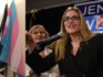 Jennifer Wexton speaks to supporters after winning the Virginia-10 district congressional election, beating incumbent Barbera Comstock ((ANDREW CABALLERO-REYNOLDS/AFP/Getty)