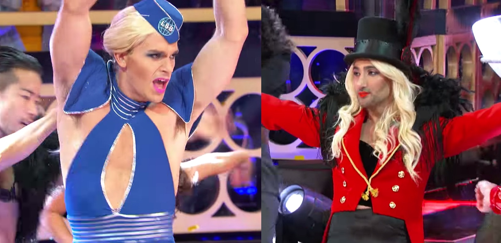 Antoni Porowski and Tan France on Lip Sync Battle.