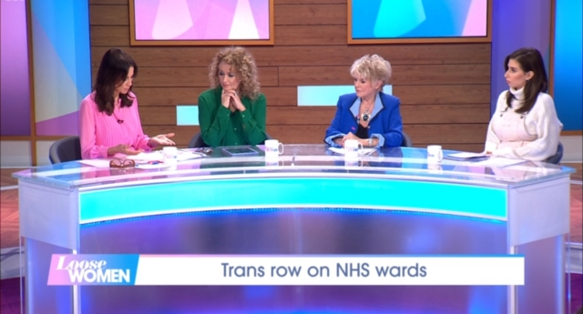 Loose Women panellists Andrea McLean, Nadia Sawalha, Gloria Hunniford and  Stacey Solomon