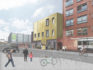 A CGI showing the proposed design of Manchester's new LGBT+ centre. (The Proud Trust/URBED)