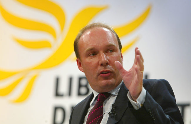 Mark Oaten at the Liberal Democrats autumn conference in 2004