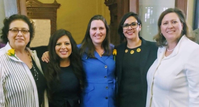 LGBT+ Texas lawmakers Celia Israel, Jessica González, Erin Zwiener, Mary González and Julie Johnson (Equality Texas)