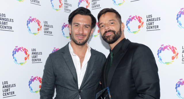 Jwan Yosef (L) and Ricky Martin attend the Los Angeles LGBT Center's 49th Anniversary Gala Vanguard Awards on September 22, 2018 in Beverly Hills, California.  (Vivien Killilea/Getty)