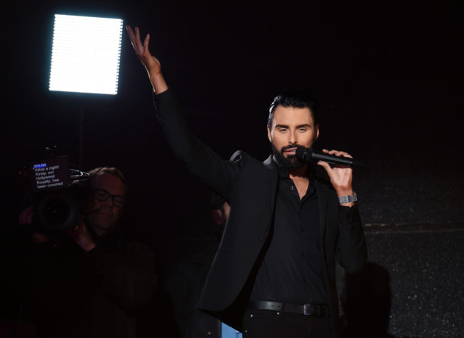 Presenter Rylan Clark-Neal during the Celebrity Big Brother final 2018 at Elstree Studios on September 10, 2018 in Borehamwood, England.