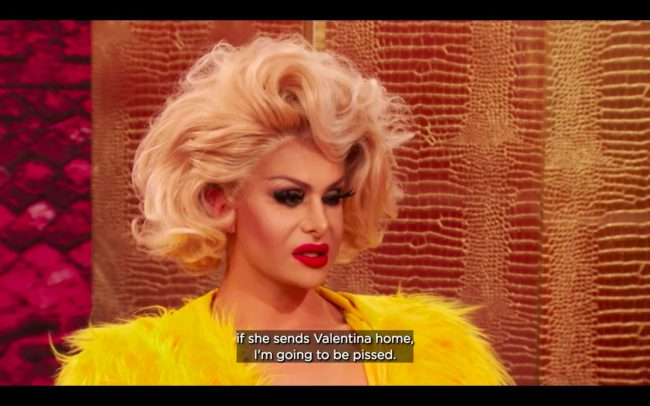 RuPaul's Drag Race All Stars 4 queen Trinity the Tuck tells off Manila Luzon for daring to wonder whether she should eliminate Valentina
