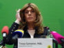 Tessa Ganserer, member of the Greens party and member of the Bavarian state parliament, comes out as trans at a press conference in Munich, on January 14, 2019. (CHRISTOF STACHE/AFP/Getty)