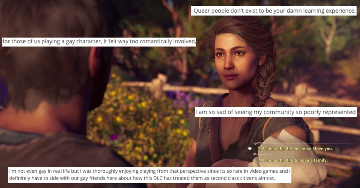 Assassin's Creed Odyssey forces characters into straight relationship ·  PinkNews